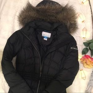 🆕 Columbia mid puffer jacket with cinched waist